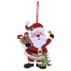 Báo Giá Merry Christmas Shaped Letters Snowman Santa Claus Cây Giáng sinh treo (Multicolor)  crystalawaking