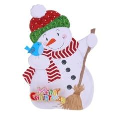 Khuyến Mãi Merry Christmas Shaped Letters Snowman Santa Claus Cây Giáng sinh treo (Multicolor)  crystalawaking