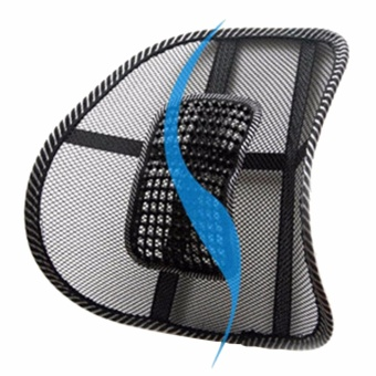 Mesh Lumbar Back Brace Support Office Home Car Seat Chair Cushion Cool - intl