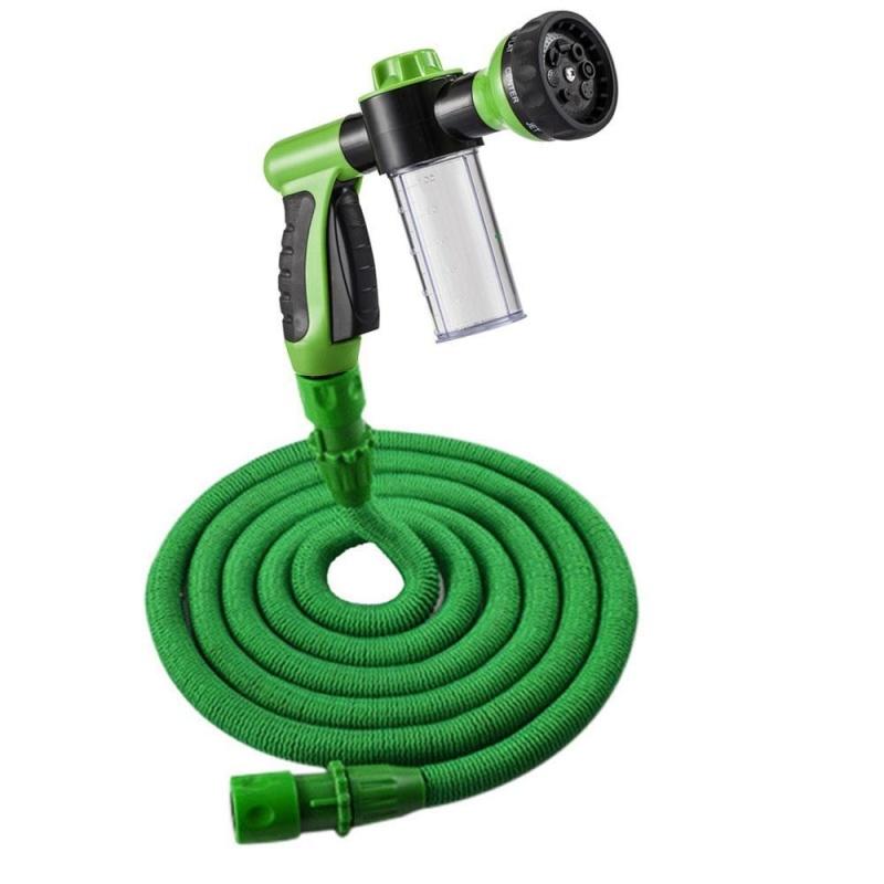 moob Watering CAR WASH Sprinkler With Hose Adjustable Hose Eight Kinds Water Pattern Lengthened Water Pipes-25FT - intl