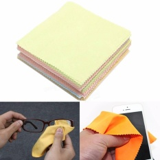 Moonar 100Pcs Mixed Color Fiber Eyeglasses Camera Phone Computer Screen Stains Cleaning Cloth - intl