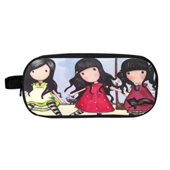 Moonar Girl Cute Pencil Pen Case Cosmetic Bag Purse Organizer Zipper Pouch ( 1 ) - intl