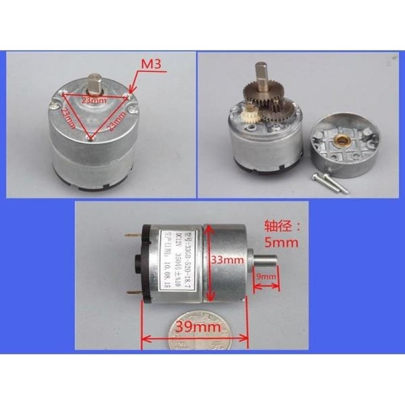 Bảng giá Mua Motor giảm tốc 33GB-520 DC12V