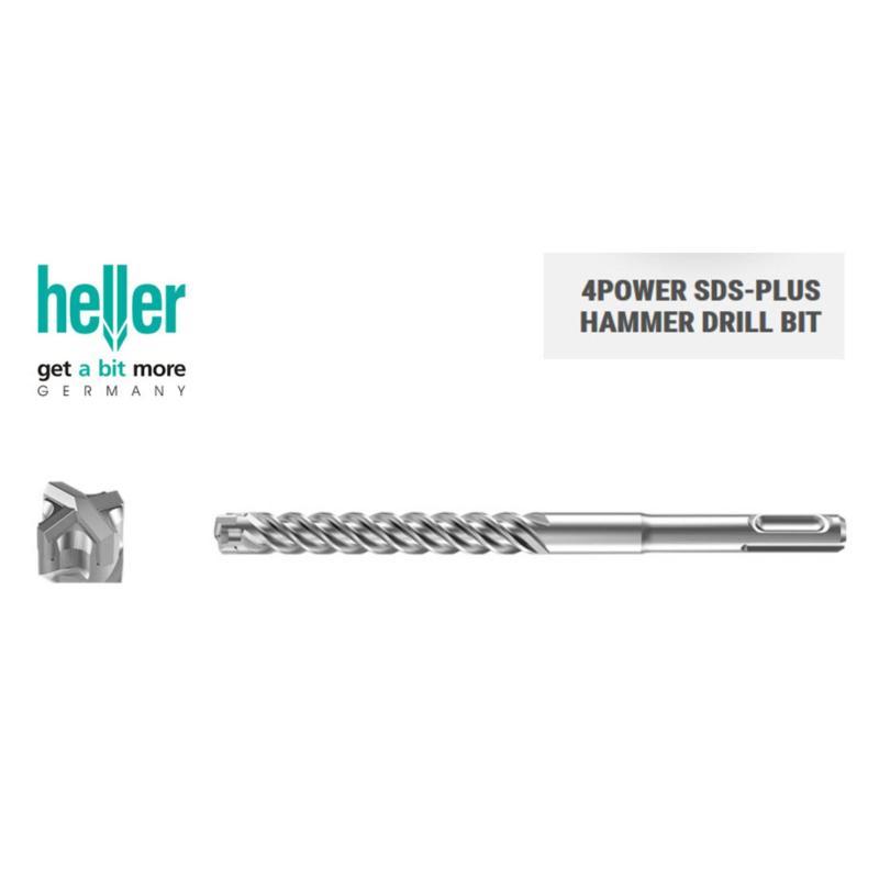 Mũi khoan bê tông Heller 4Power SDS Plus 12x160 (mũi chữ thập, sx tại Đức)