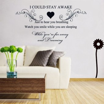 New I Could Stay Awake Quote Home Room Decor Art Removable Decal Wall Sticker (Normal) - intl