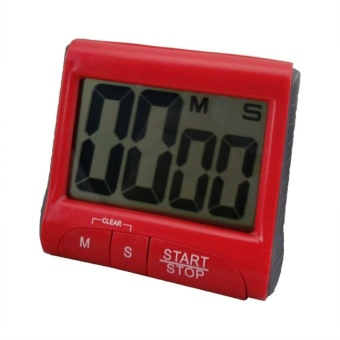 New Large LCD Digital Kitchen Timer Count-Down Up Clock Loud AlarmRed - intl