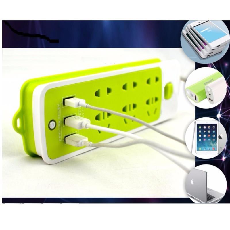 Bảng giá Mua Ổ cắm điện 6 JACK cắm và 3 CỔNG USB 2,5m thông minh
