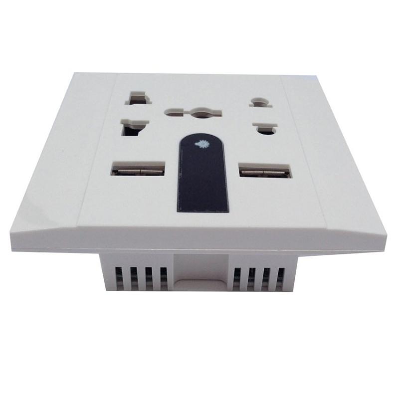 Bảng giá Mua Ổ cắm điện âm tường có cổng USB SCAVI BG10 (Trắng)