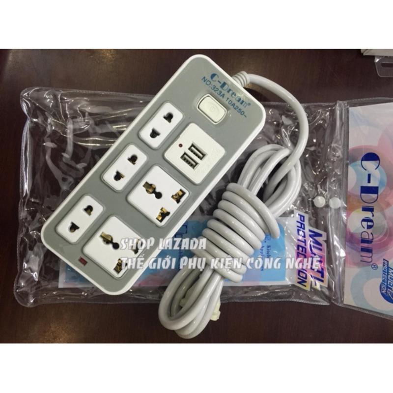 Bảng giá Ổ Cấm Điện Cao Cấp Multi 5 cổng - 2 cổng USB