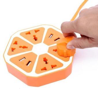 Ổ cắm điện đa năng 4 USB Hexagon Socket hình miếng cam