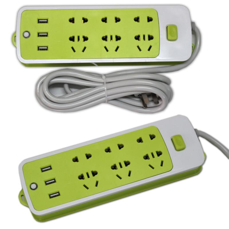 Bảng giá Mua Ổ Cắm Điện Đa Năng Tích Hợp 3 Cổng Sạc USB BenHome sạc Pin Smartphone