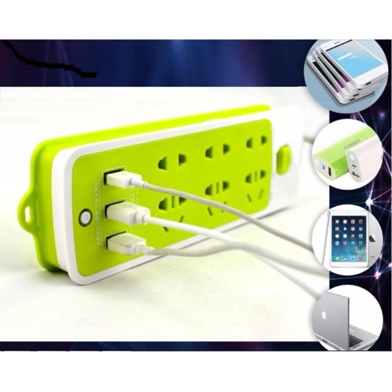 Bảng giá Mua Ổ cắm điện đa năng tích hợp 3 cổng usb sạc điện thoại