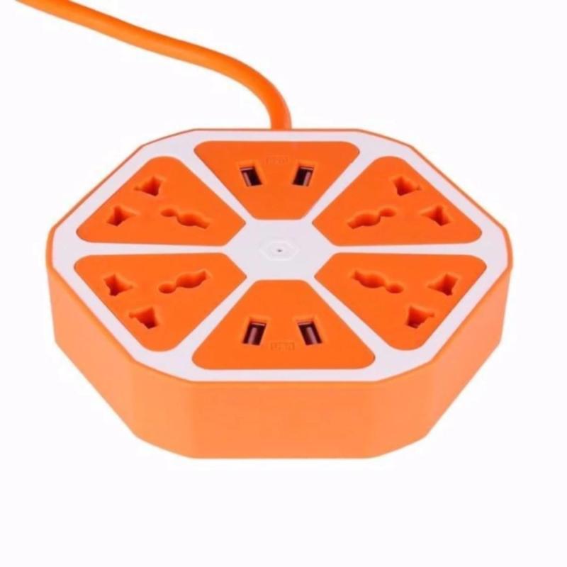 Bảng giá Mua Ổ Cắm Điện Hình Múi Cam 4 Cổng USB(nhiều màu)