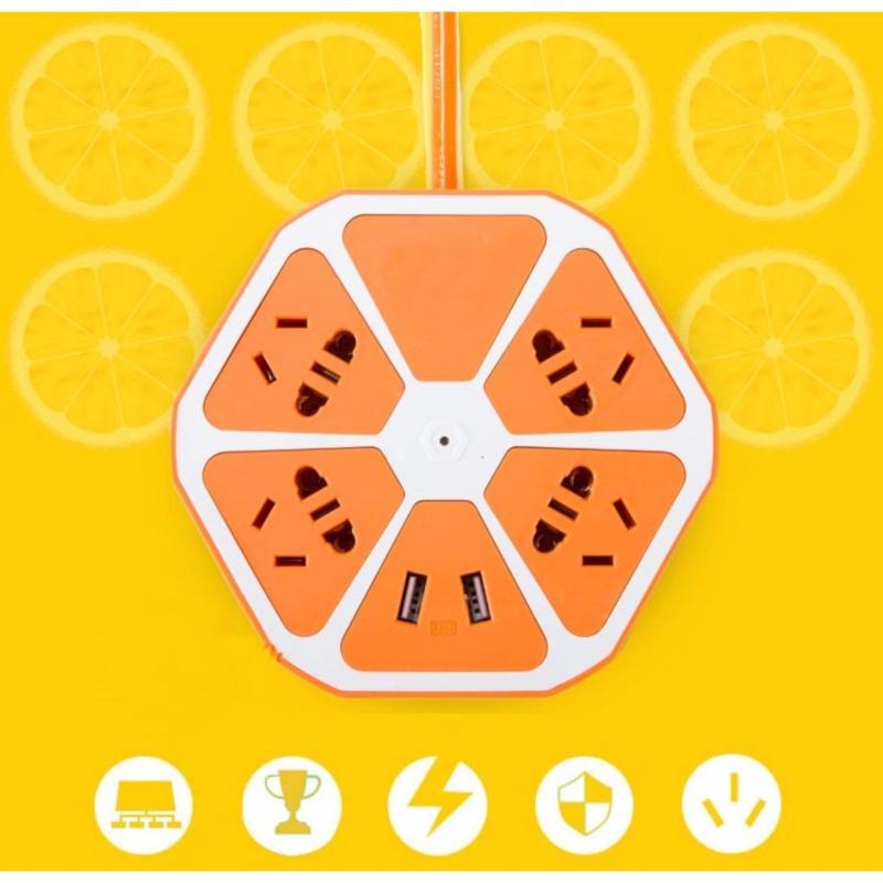 Bảng giá Mua Ổ cắm điện hình trái cam có cổng USB