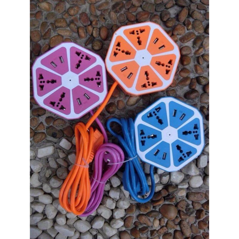 Bảng giá Mua Ổ cắm điện quả cam kèm USB sạc( nhiều màu)