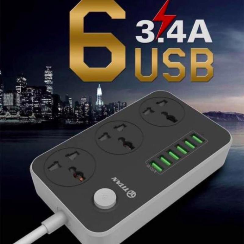 Bảng giá Mua Ổ CÁM ĐIỆN THÔNG MINH 6 CỔNG USB TITAN CD01