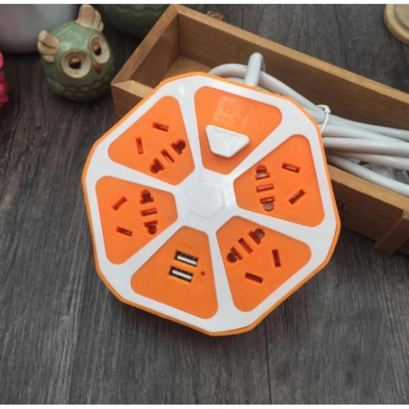 Bảng giá Mua Ổ cắm điện thông minh cao cấp có cổng USB - Hình quả cam