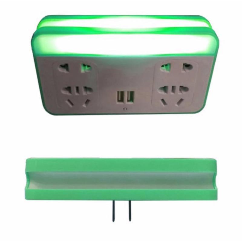 Bảng giá Ổ cắm thông minh kiêm sạc điện thoại và đèn ngủ cảm biến BL-3306 (Xanh cốm)
