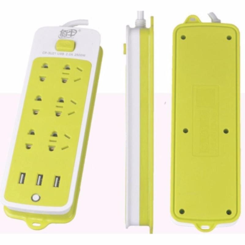 Bảng giá Mua Ổ điện thông minh 6 giắc cắm và 3 cổng sạc USB