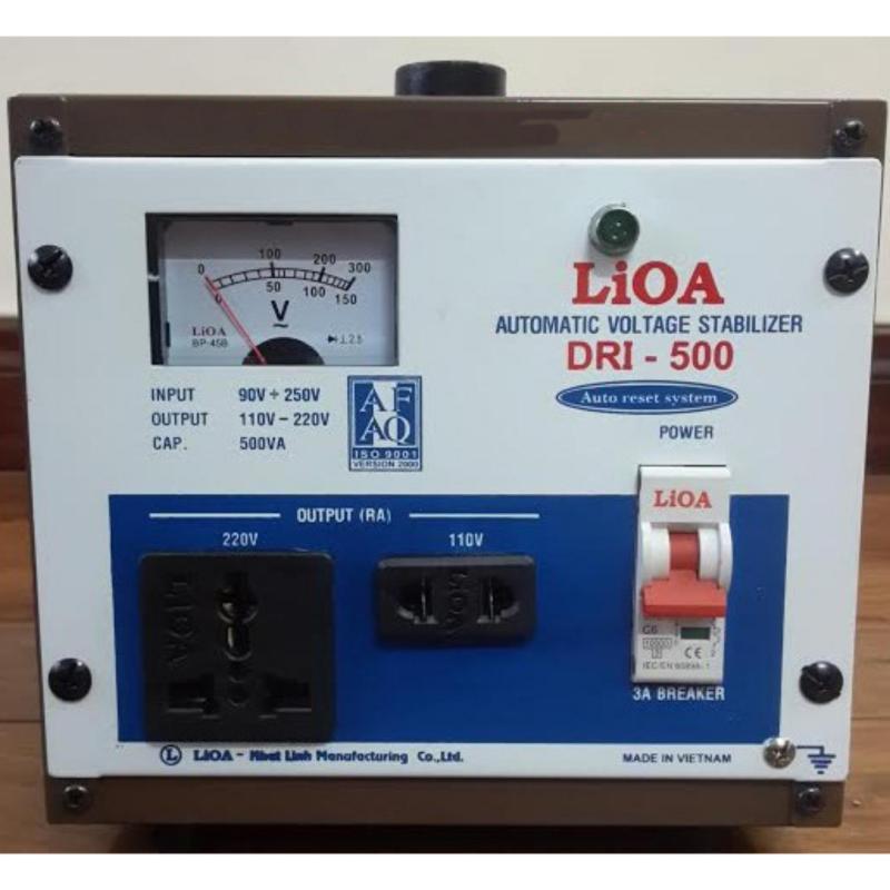 Bảng giá Mua Ổn áp LIOA 1 pha 500KVA (500W) kéo điện từ 90v lên 220v DRI-500
