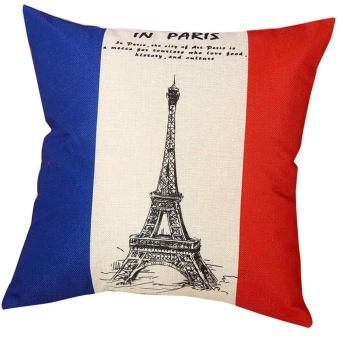 Pastoral Style Square Pillow Cover Cushion Case Toss Pillowcase Hidden Zipper Closure - intl
