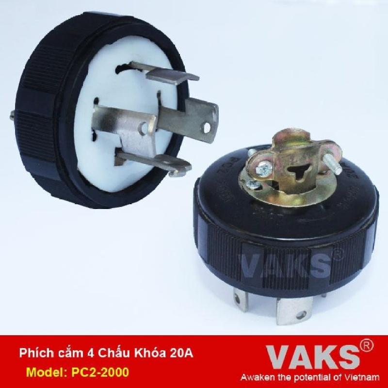 Bảng giá Phích cắm điện locking 3 pha 4 chấu khóa 20A - PC2-2000 - dùng trong ngành may