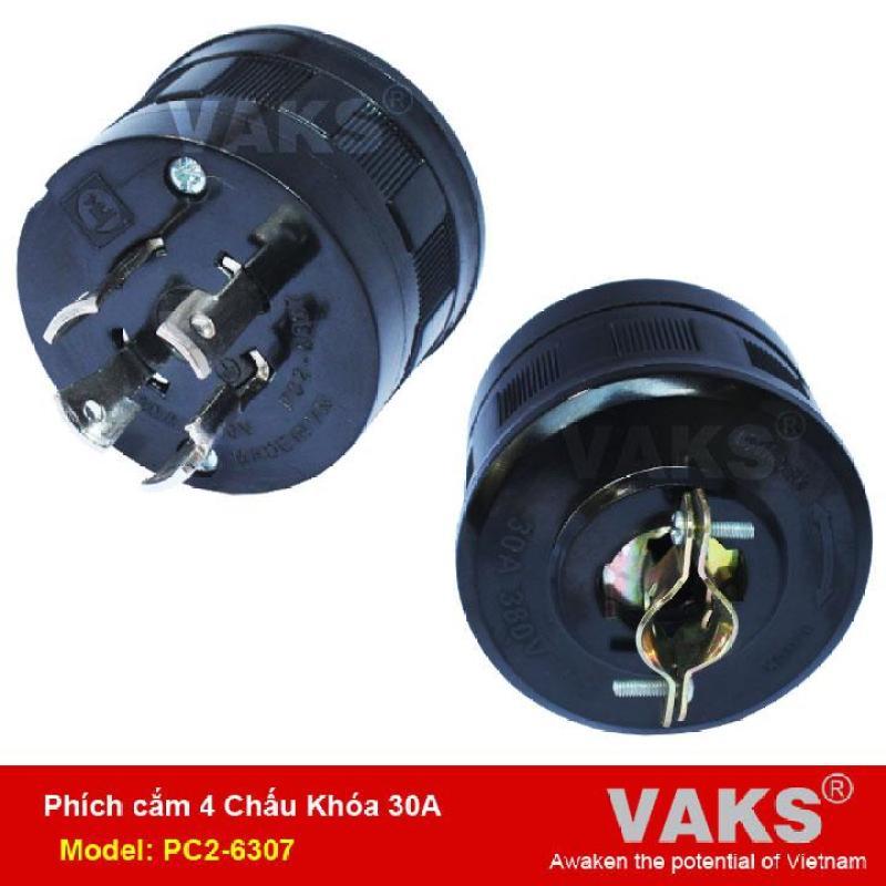 Bảng giá Phích cắm điện locking 3 pha 4 chấu khóa 30A - PC2-6307 - dùng trong ngành may