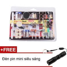 Phụ kiện mài, cắt, đánh bóng 105pcs JS105P (Tặng đèn pin mini Zento)
