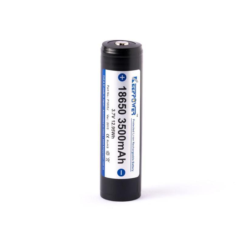 Pin sạc KeepPower 18650 - 3500 mAh (Loại dày - Có mạch bảo vệ)