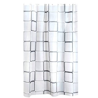 Polyester Fabric Bath Shower Curtain (Intl)