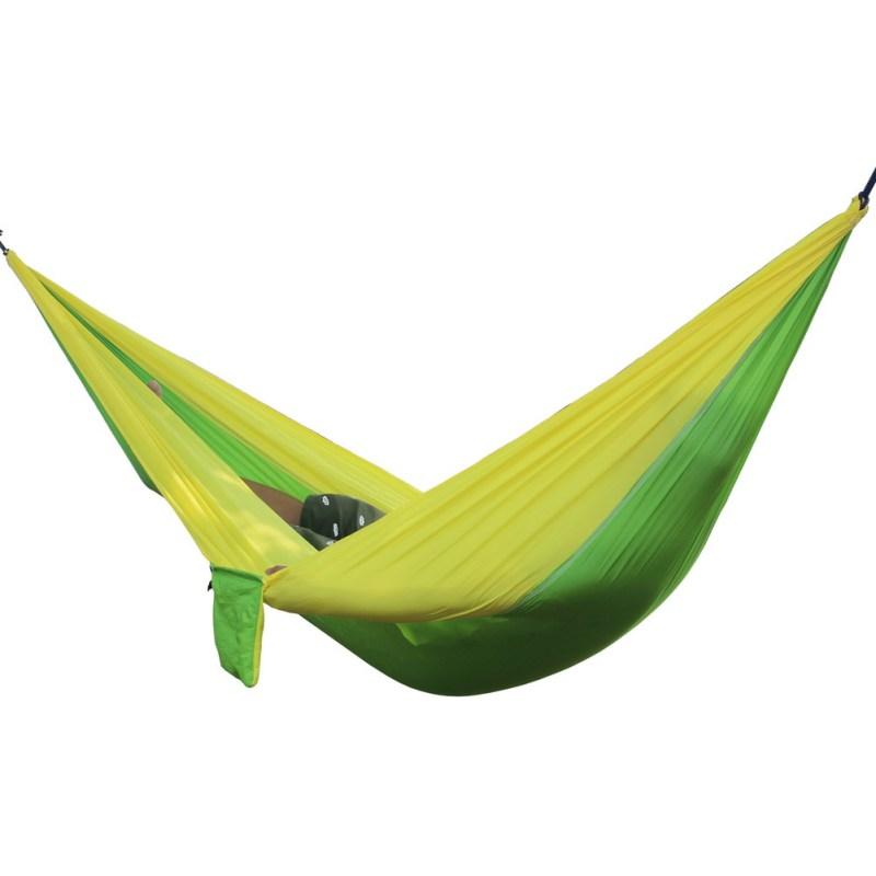 Portable Double Person Hammock (Yellow Green)