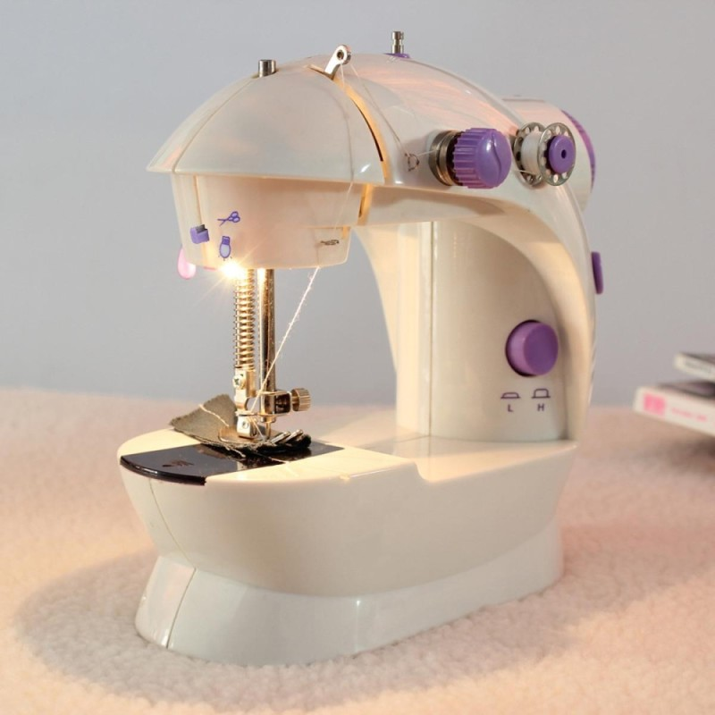 Bảng giá Portable Home Handwork Electric Mini Sewing Machine With Led Light - intl