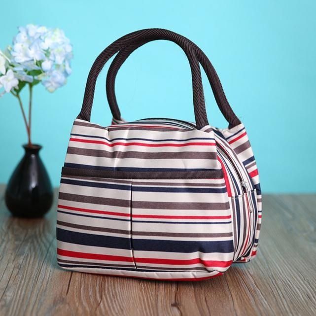 ... Portable Picnic Lunch Bag Tote Zipper Organizer Lunch Box Red - intl ...