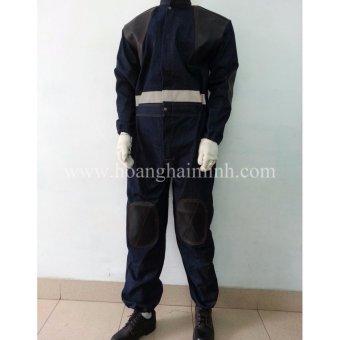 Quần áo liền vải Jean dành cho thợ bắn (Xanh Navy)