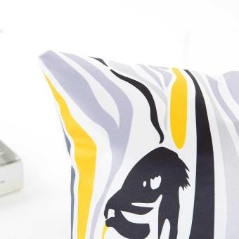 Rayon Pillow Sofa Waist Throw Cushion Cover Home Decor Cushion Cover Case - intl