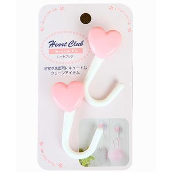 Set 2 móc hút chân không hình trái tim hàng nhập khẩu Nhật Bản