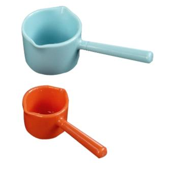 Set 2 thìa đong sữa, gia vị, đong thuốc màu xanh, cam hàng nhập khẩu Nhật Bản