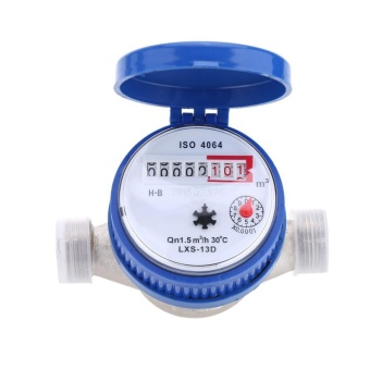 Single Flow Dry Cold Water Table 15mm Garden & Home Water Meter With Free Fittings - intl