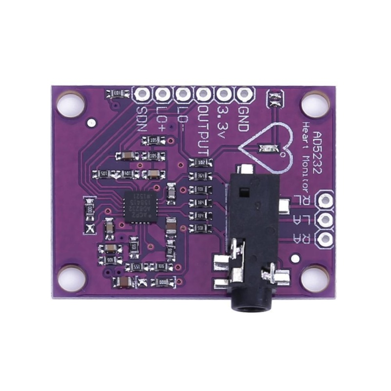 Bảng giá Mua Single Lead AD8232 Heart Rate Monitor/ECG Developemt Kit for Arduino - intl