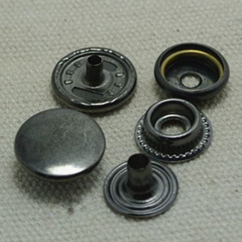 Snap Fastener Buttons 15mm (Black) (Intl)