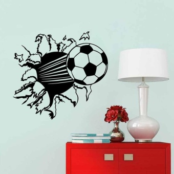 Soccer Living Room Bedroom Background Removable Wall Stickers Waterproof - intl