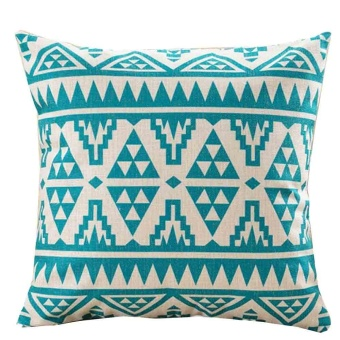 Square Pillow Cover Cushion Case Toss Pillowcase Hidden Zipper Closure - intl