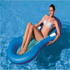 Summer Swimming Adult Water Floating Bed Inflatable Floating Row Water Loungers Water Cushion Bed Adult Pools Inflatable Pools(random Color) - intl