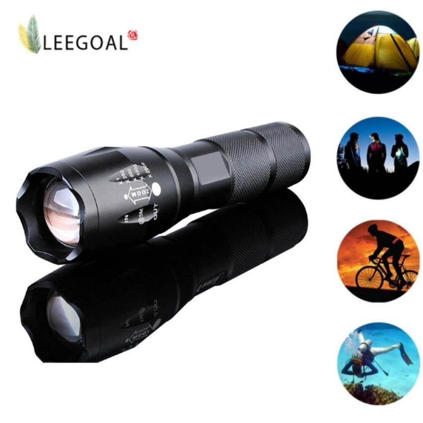 T6 LED Flashlight Torchlight Zoomable 5 Mode Torch Light - intl