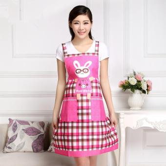 Tạp dề thỏ thời trang Hàn Quốc (Hồng)