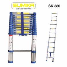 Thang nhôm rút Sumika SK 380 (3,8m, Xanh) - NEW 2017