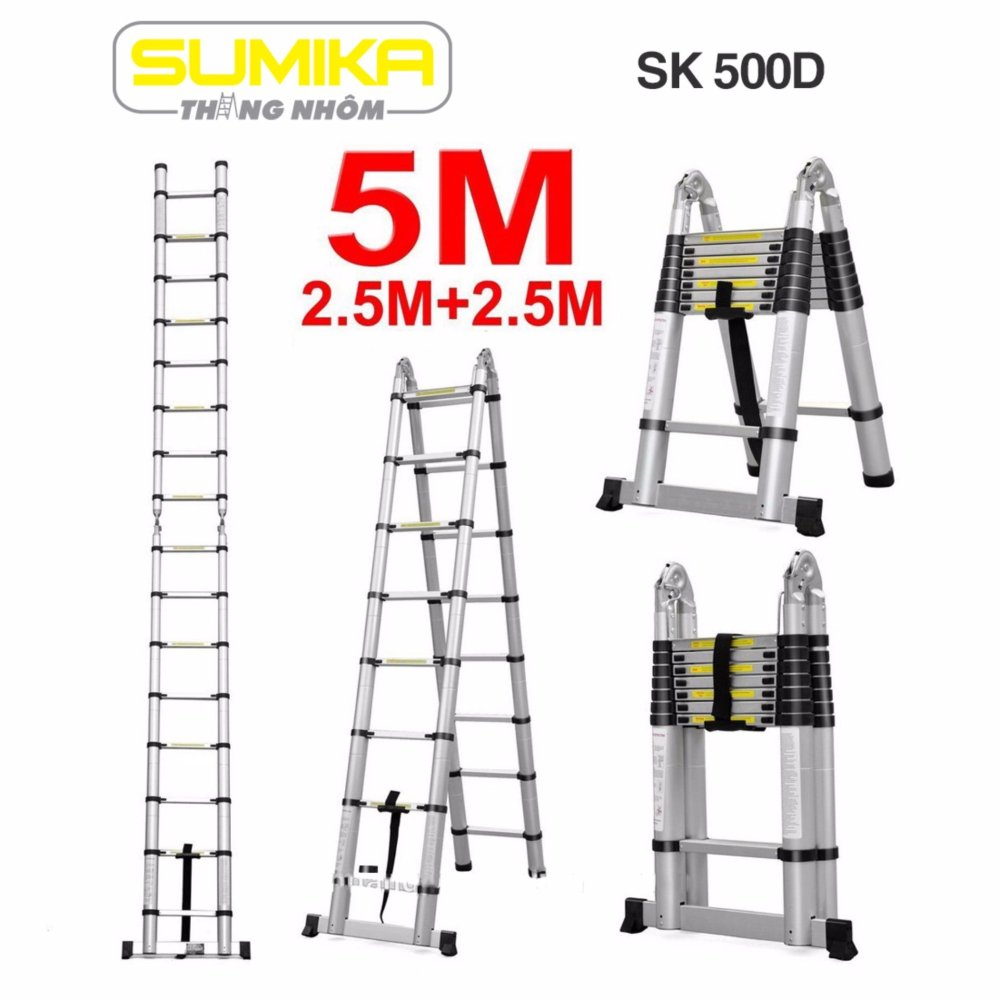 Thang rút nhôm chữ A Sumika SK 500D