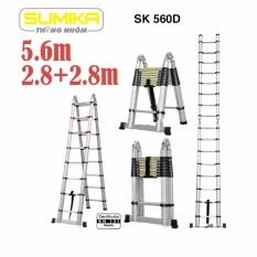 Thang rút nhôm đôi Sumika SK 560D (5.6m)