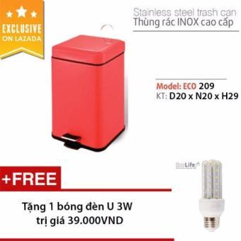 Thùng rác inox cao cấp-ECO209-6L (Tặng 1 bóng đèn Led U 3W) - 8127234 , EC761HLAA1QIGQVNAMZ-2904615 , 224_EC761HLAA1QIGQVNAMZ-2904615 , 420000 , Thung-rac-inox-cao-cap-ECO209-6L-Tang-1-bong-den-Led-U-3W-224_EC761HLAA1QIGQVNAMZ-2904615 , lazada.vn , Thùng rác inox cao cấp-ECO209-6L (Tặng 1 bóng đèn Led U 3W)