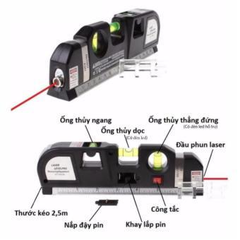 Thước Nivo laser LV-10 cân mực laser đa năng cân bằng kèm thước kéo2,5m